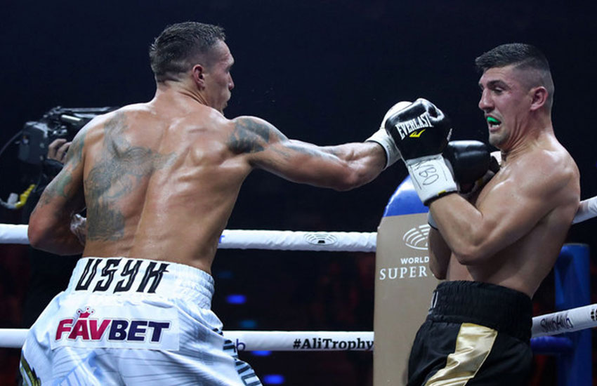 Usyk displayed