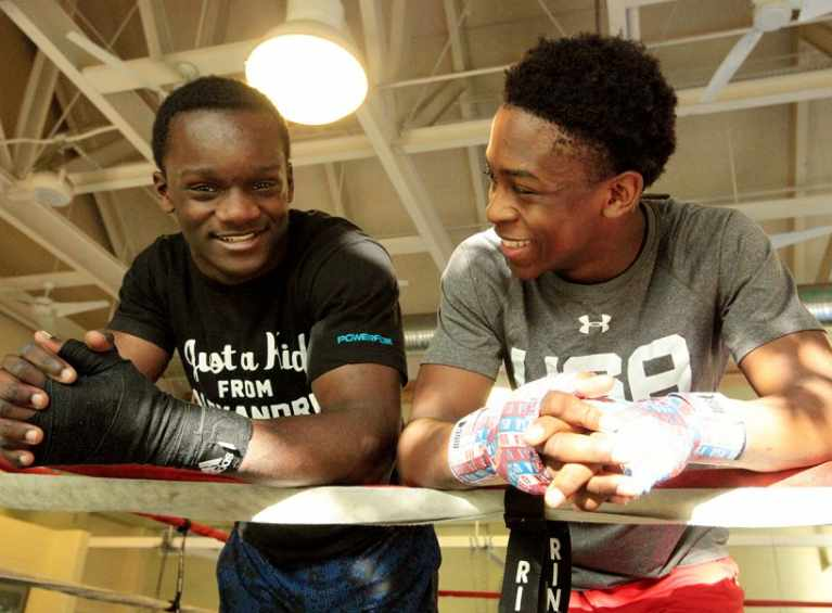 Stablemates-Isley-and-Davis-Lead-the-Parade-of-Boxers-into-the-Olympic-Trials